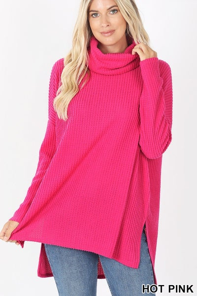 Amazing Waffle Cowl Neck Thermal
