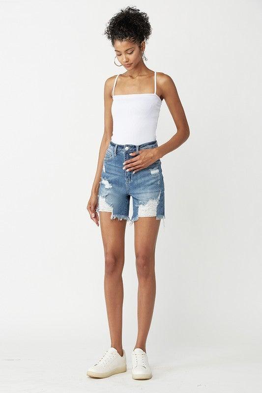 High Rise Risen Shorts
