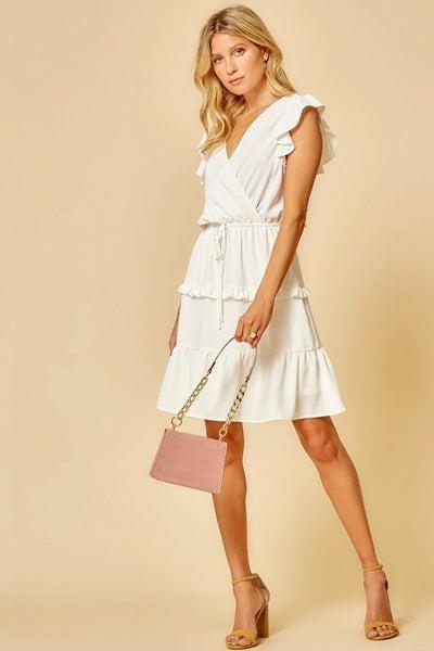 Stunning Flutter Sleeve Dress