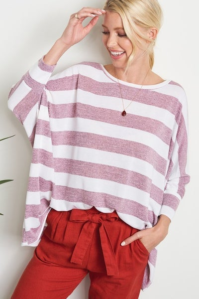 Stacy Soft Stripe Pullover Top