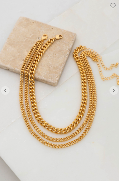 3 Layer Chunky Link Chain Necklace
