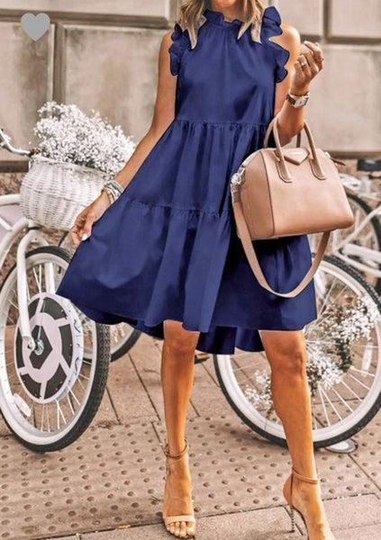 Binda Ruffled Shirred Dress *Final Sale*