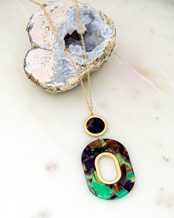 Resin Pendant Necklace