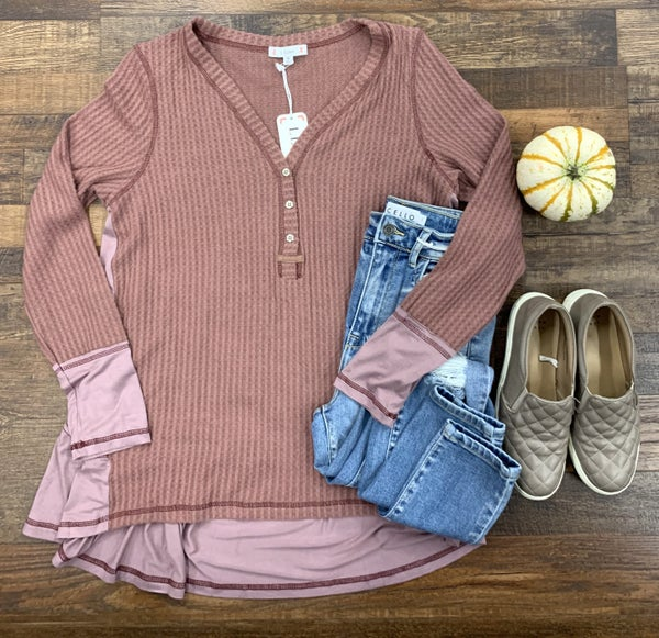 Button Up Thermal Top
