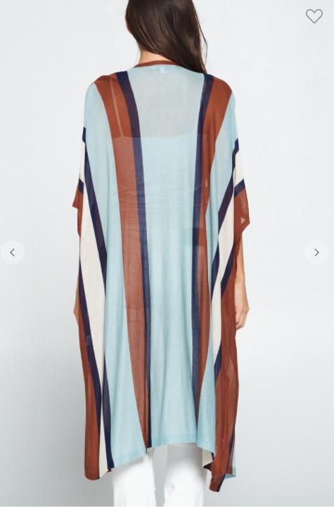 Multi Striped Kimono