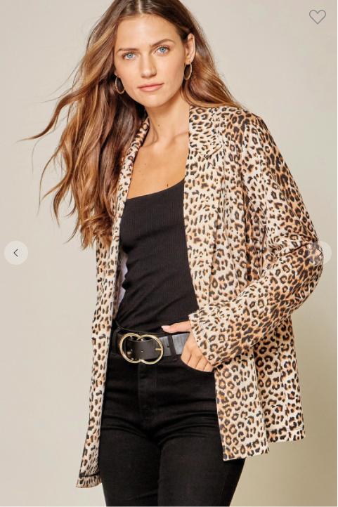 Leopard Fab Blazer *Final Sale*