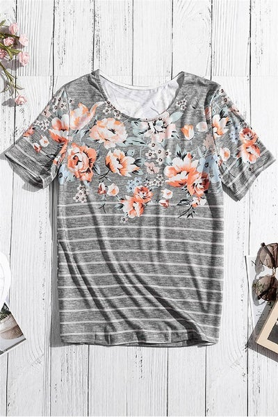 Spring Vibe Floral Tee
