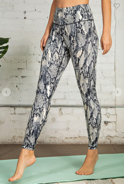 Snakeskin Print Butter Leggings