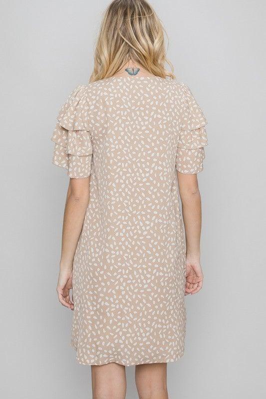 Triple Sleeve Spot Dress