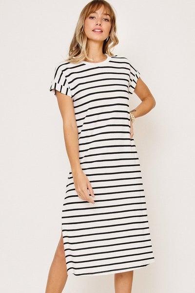 Stella Stripe Midi Dress