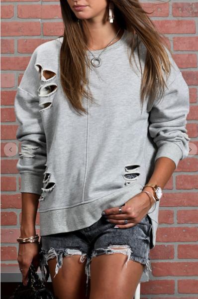 Sideline Distressed Sweatshirt