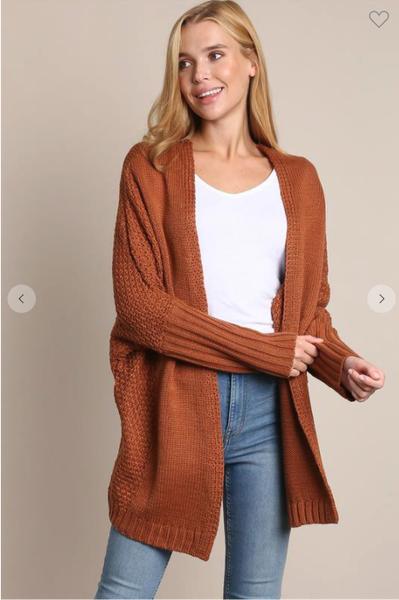 Chestnut Knit Cardi