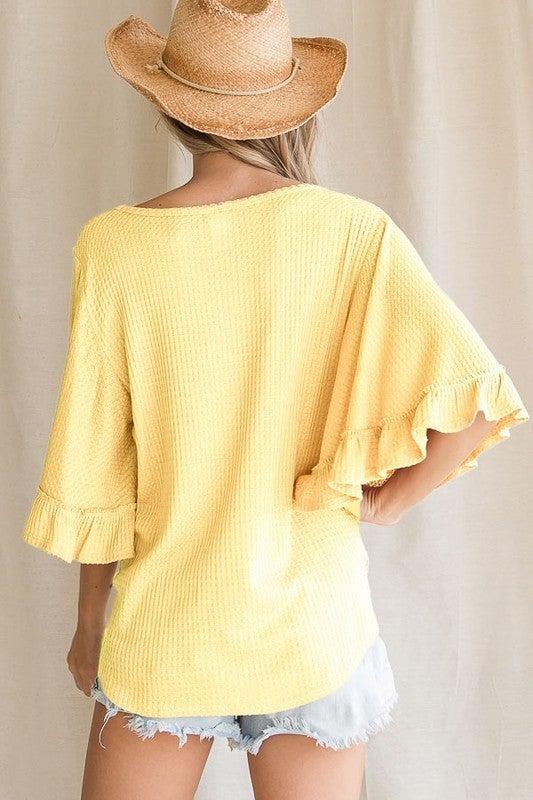 Harper Waffle Knit Top