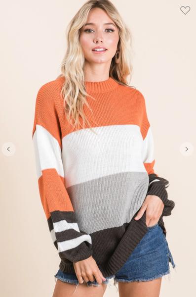 Bekah Bubble Sleeve Sweater