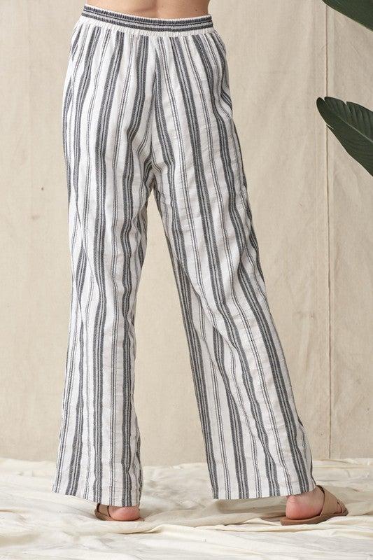 Lyndell Linen Stripe Pants