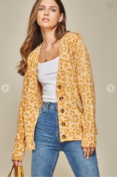 Marigold Button Sweater