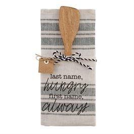 Towel Wooden Utensil Set