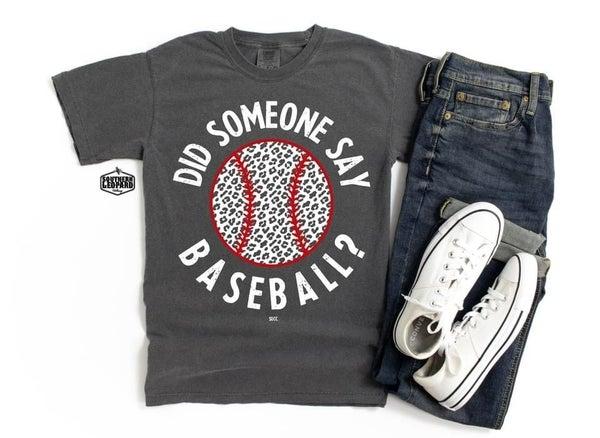 Did Someone Say Baseball