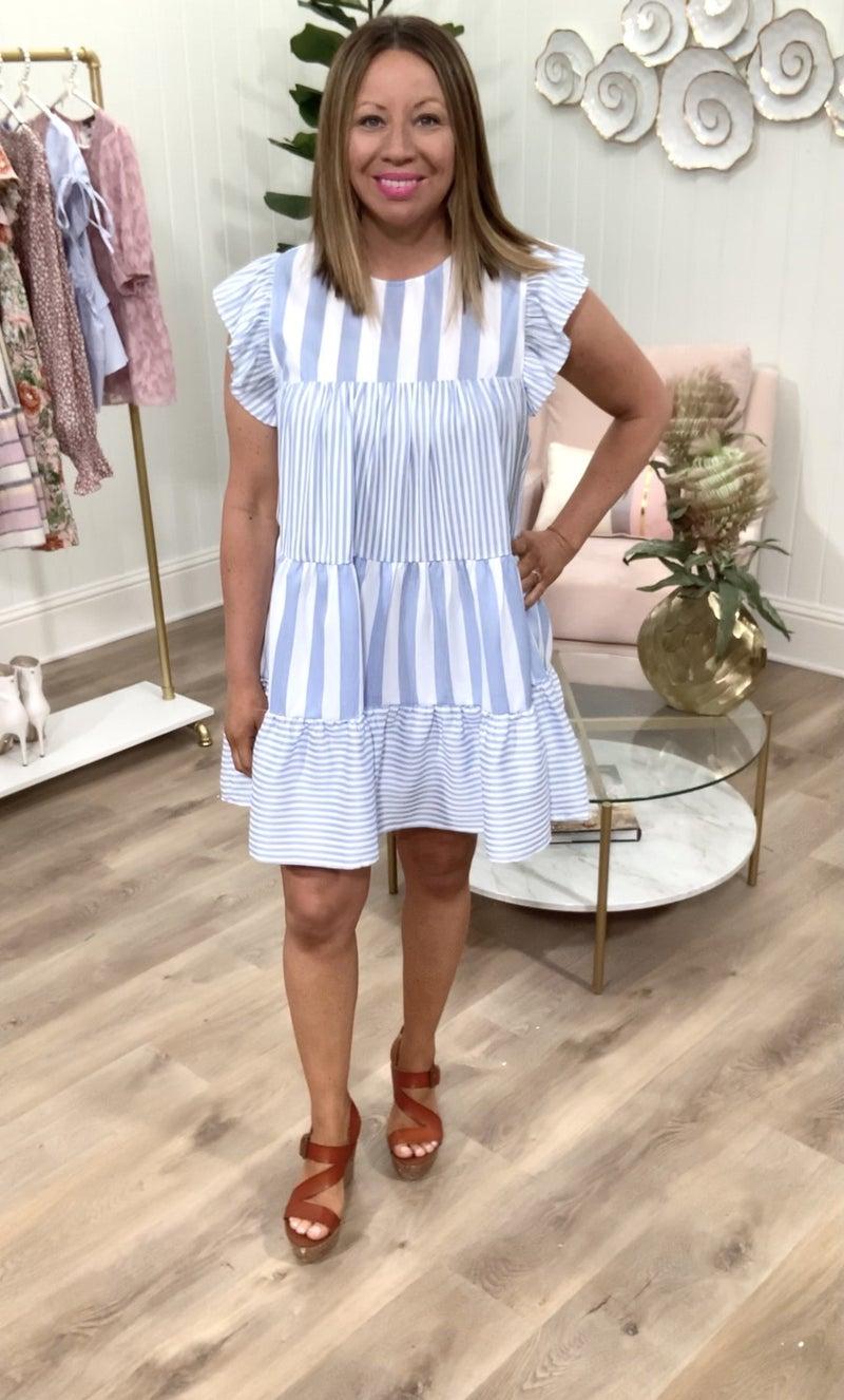 Daphne Stripes Dress