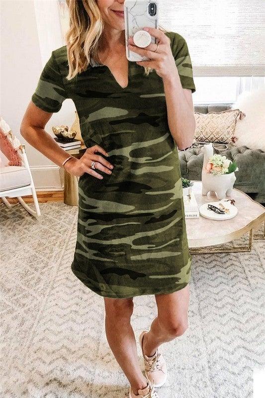 Aly Camo Dress