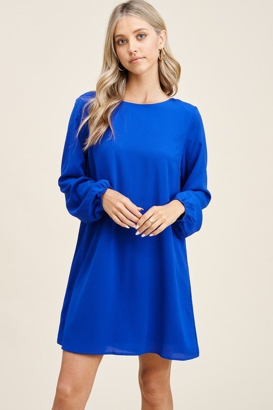 Cut Out Tie Back Shift Dress