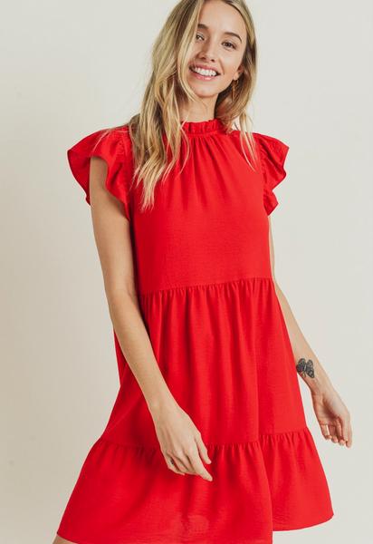 Eden Ruffle Sleeve Dress