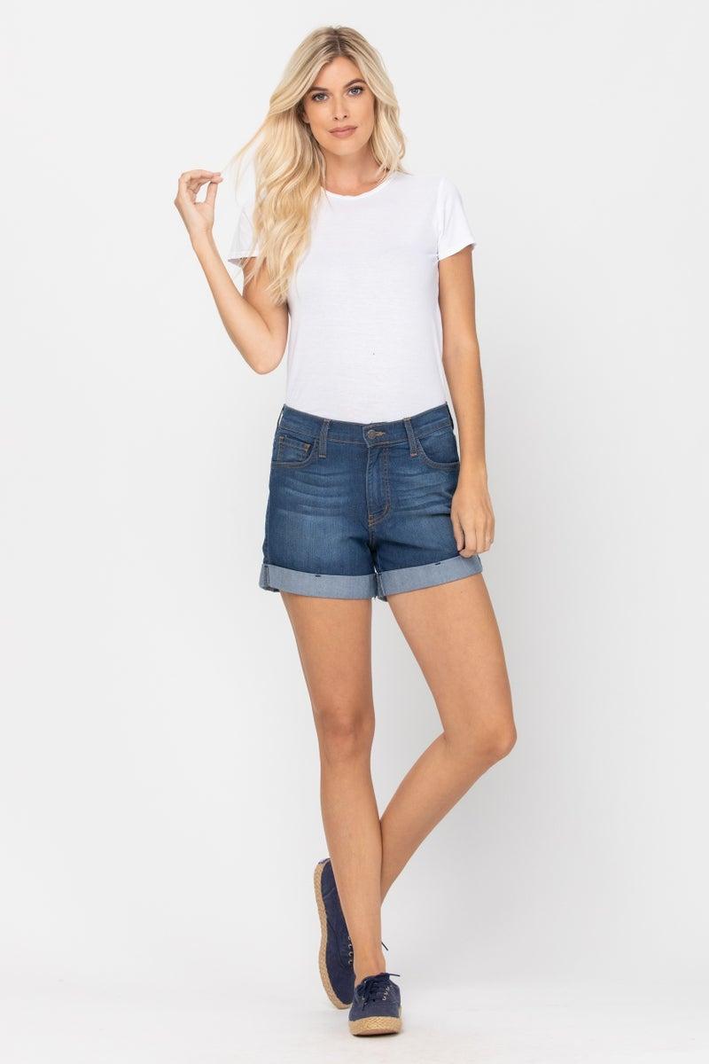 Cuffed Judy Blue Classic Shorts