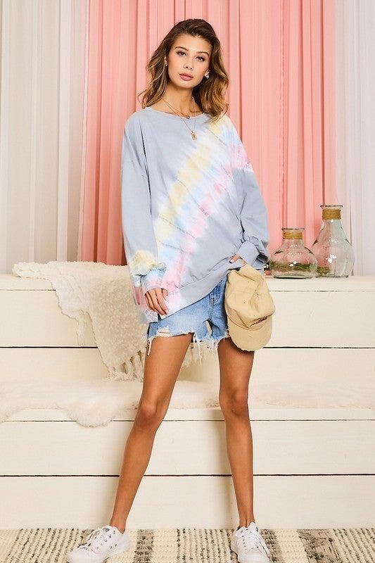 Beachy Days Tie Dye Pullover