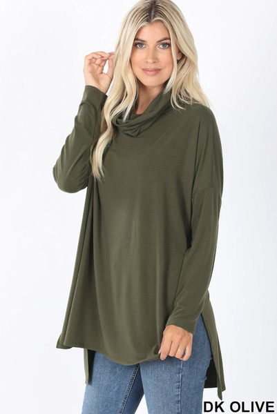 Live In Oversized Turtleneck Tunic
