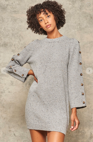 Button Sleeve Anthro Dress