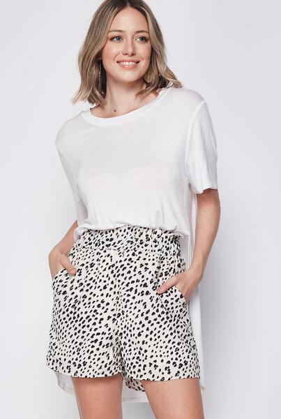 Jillian Ruffle Leopard Shorts