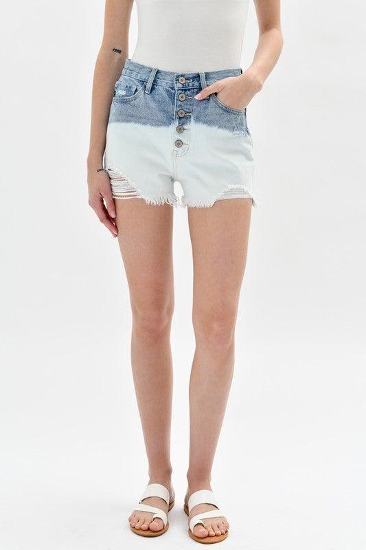 High Rise Midi Shorts