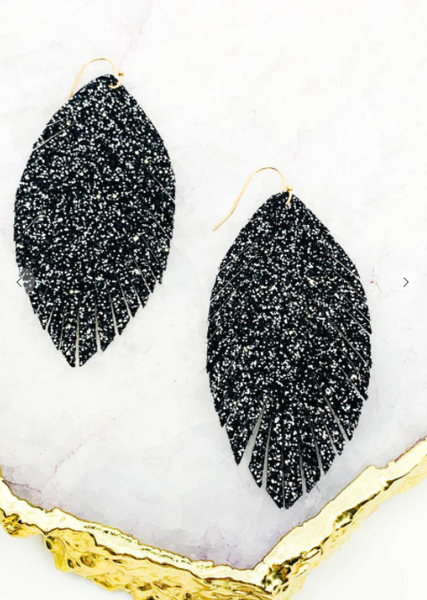 Fringe Glitter Earrings