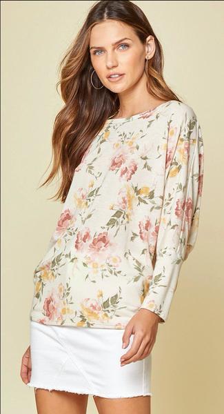 Floral Dolman Sleeve Alexis Top