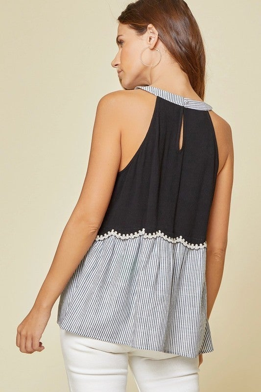 11th Street Embroidered Halter