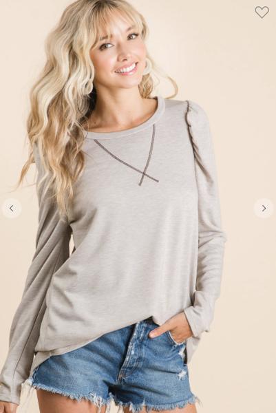 Gwen Puff Long Sleeve Top