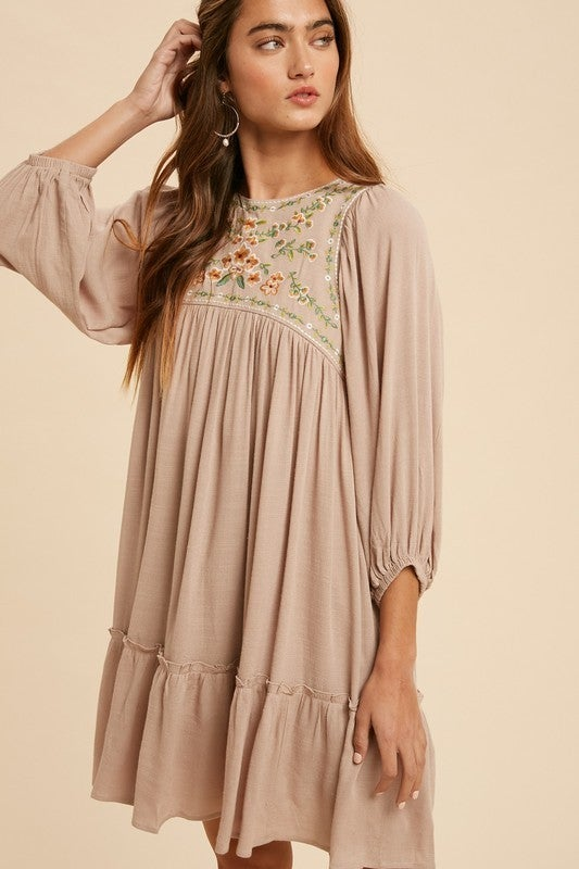 Embroidered Kay Dress