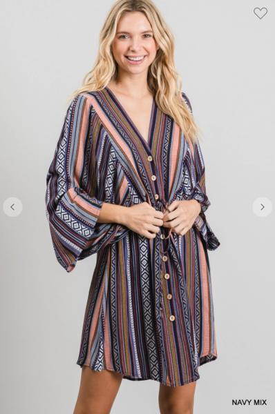 Aria Button Front Dress