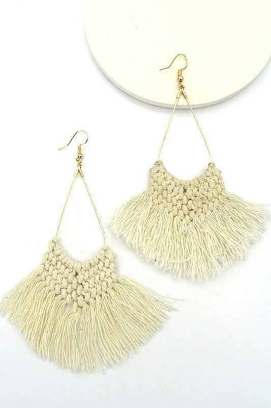 Woven Tassel Earrings