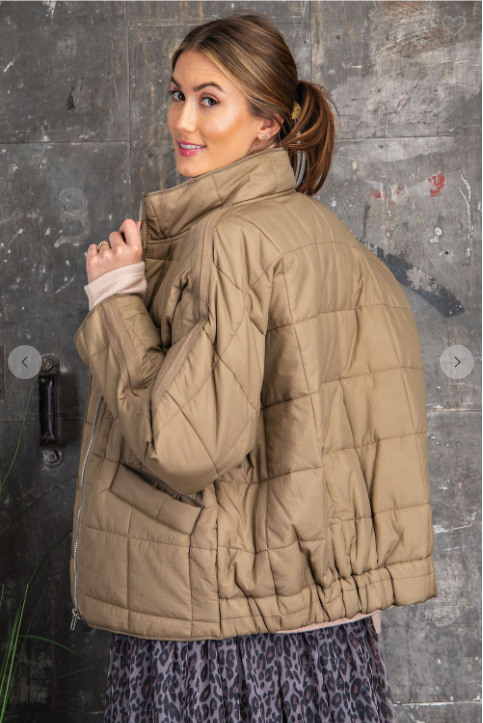 Quilted Zip Up Jacket *Final Sale*
