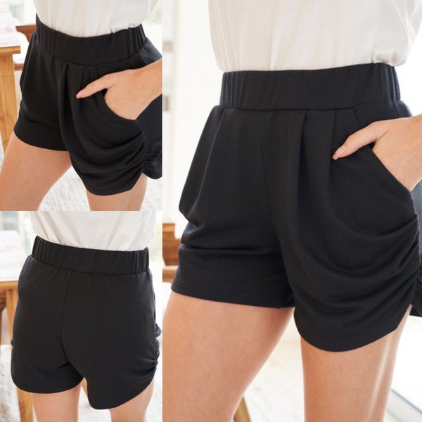 High Waisted Solid Knit Short