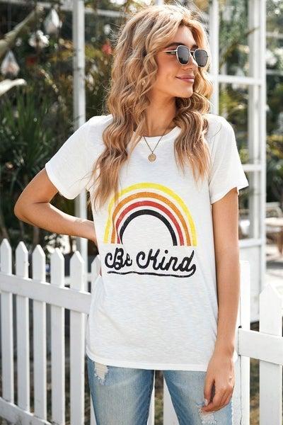 Be Kind Rainbow Tee