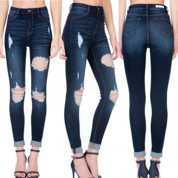 Cello Roll Cuff Jeans- ONLY LIGHT WASH *Final Sale*