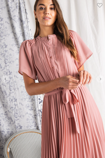 Spring Fling Pleated Dress
