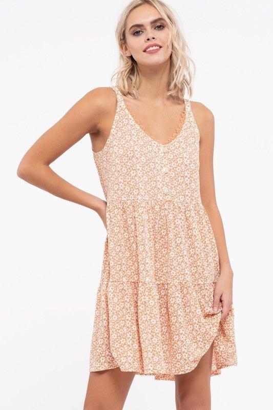 90's Girl Button Front Dress