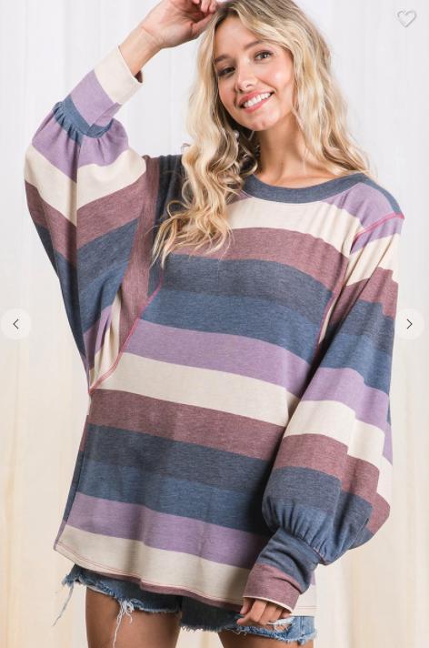 Bold Stripes Pullover *Final Sale*
