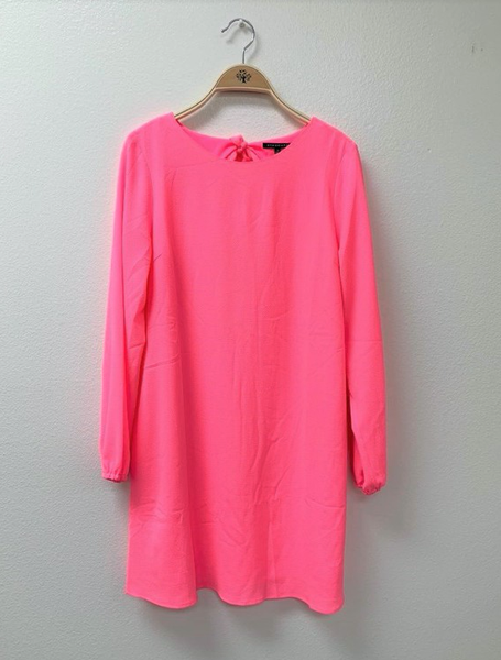 Cut Out Hot Pink Dress