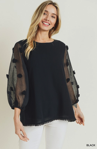 Something Special Pom Blouse *Final Sale*