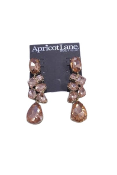 Large Crystal Drop Earrings (Color Options Available)