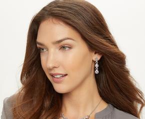 Halo Burst Post Drop Earrings